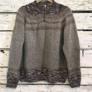 BOTTO Sweater long sleeve wool blend cowl neck XL